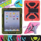 NEW Waterproof Shockproof Dirt Snow Sand Proof  Extreme Army Military Heavy Duty Cover Case Kickstand for Apple iPad 5 Air @XYG (7-olive/olive) by XYG-Case