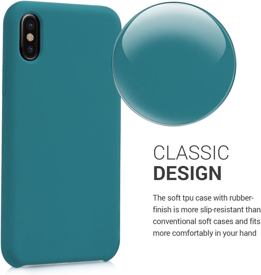 Carcasa de TPU para tel/éfono m/óvil Cover Trasero en Verde Lima kwmobile Funda para Apple iPhone X