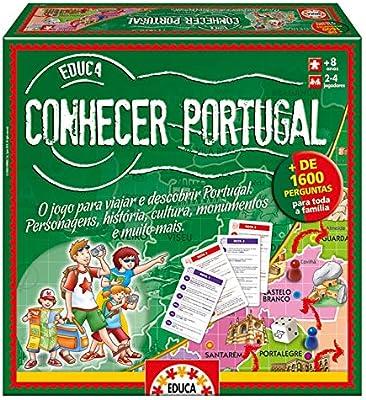 Educa- Conhecer Portugal, Juego de Mesa en portugués (14670): Amazon.es: Juguetes y juegos