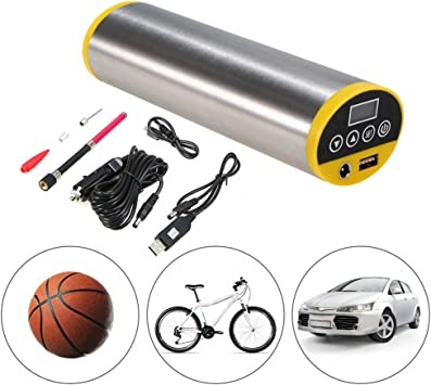 Guoz Bomba de Bicicleta eléctrica 150PSI Bicicleta Inflador de ...