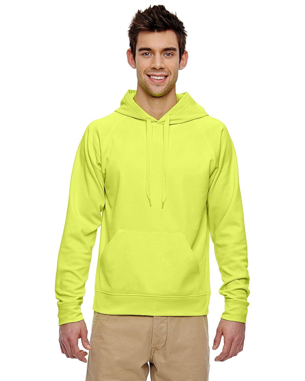 pf96 Jerzees大人用Jerzees Sport Techフリースフード付きプルオーバースウェットシャツ B00SRTBZ3M グリーン(Safety Green) L L|グリーン(Safety Green)
