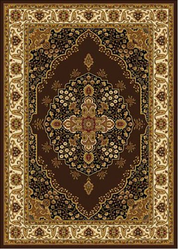 Home Dynamix 3 Hd2319 511 Royalty Collection Area Rug  43 Inch By 62 Inch  Brown Ivory