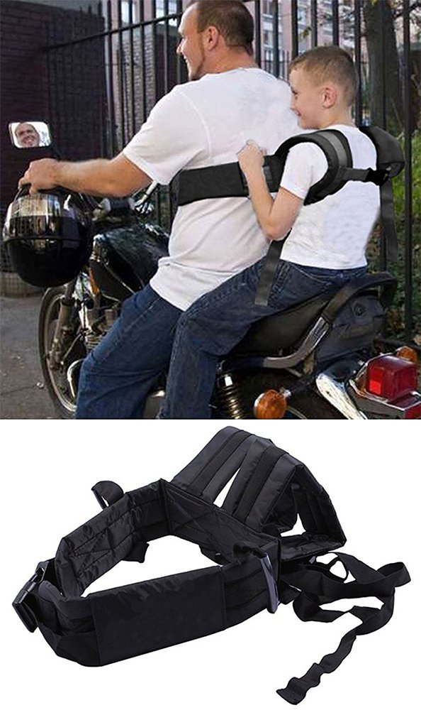 Huntiger Adjustable Children Kid Child Motorcycle Safety Belt Strap Seats Electric Vehicle Harness