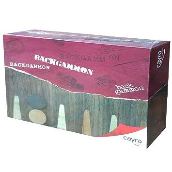 Cayro 609 Backgammon Juego De Mesa 06549 Juego Maletin