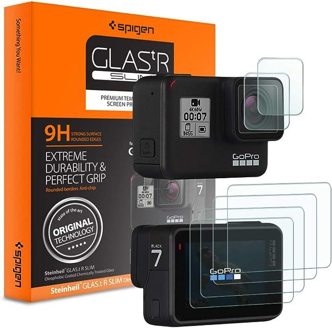 Spigen, Protector de Pantalla para GoPro Hero7/6/5, 6 Pack (2 ...