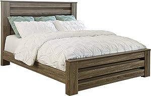 Ashley Furniture Signature Design - Quinden Vintage Casual Framed Panel Bedset - King Size Bed - Dark Brown