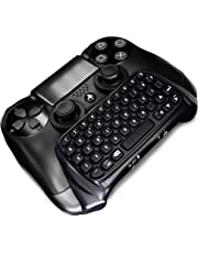 GEEKLIN Mini 47 Keys Wireless Tastatur, Spiel Griff Controller 2.4G Tastatur Adapter Controller PS4 PlayStation (Schwarz)