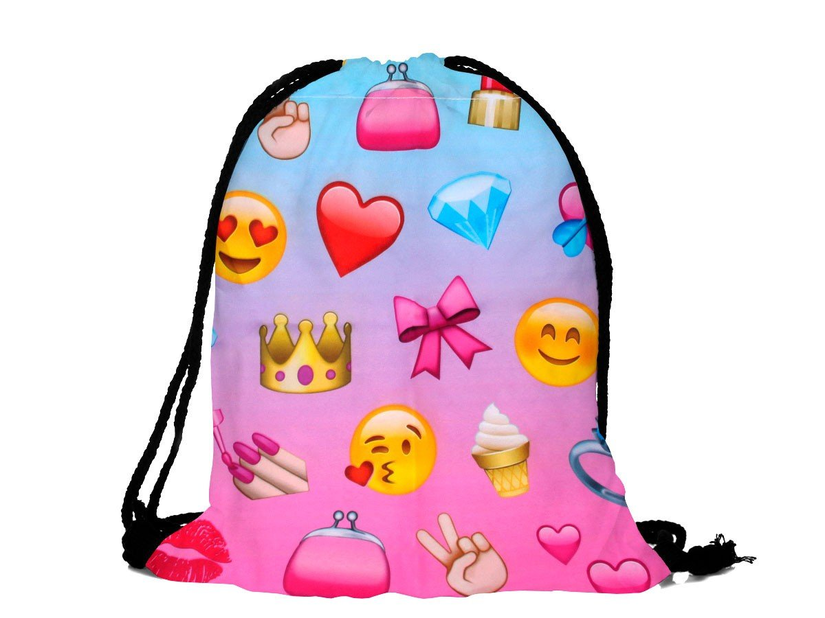 Alsino ® Sackpack Backpack Drawstring Bag 15' x 12' Prints Straps Lightweight School Lifestyle Fashion Travel Gym Shoulder Sport Man Woman Children Teenagers from, RU-126 Flowers colored