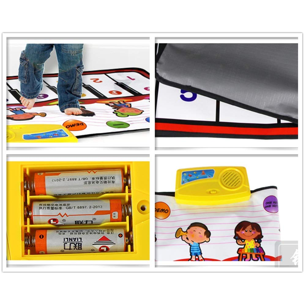 Play Keyboard Mat 39 Inches 10 Keys Cartoon Kids Design Electronic Musical Keyboard Playmat Foldable Floor Keyboard Piano Dancing Activity Mat Step And Play Instrument Toys For Toddlers Children's Gif by GAOCAN-gq (Image #3)