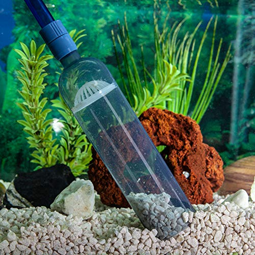 Gravel Vacuum for Aquarium - Fish Tank Gravel Cleaner- Aquarium Vacuum Cleaner - Aquarium Siphon - 8 Foot Long Aquarium Gravel Cleaner With mini Net from LL Products