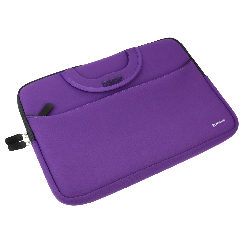 Evecase HP Stream 11 UltraPortable Handle Carrying Portfolio Neoprene Sleeve Case Bag for HP Stream 11 11-d010nr Notebook 11.6 inch Laptop - Purple by Evecase (Image #4)