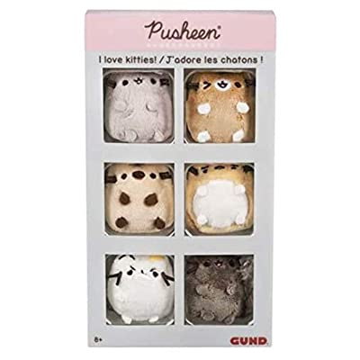 GUND Pusheen Comic Collector Set of 6 Plush Stuffed Animal Cats: Toys & Games
