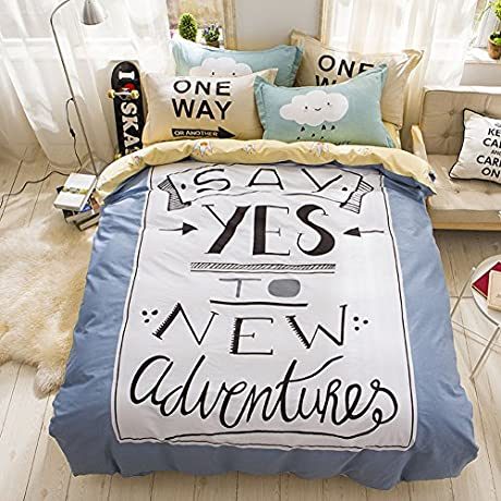 Bed Sheet Set Cotton 1800 Bedding Fade Stain Resistant Hypoallergenic 4 Piece Cartoon L Queen2