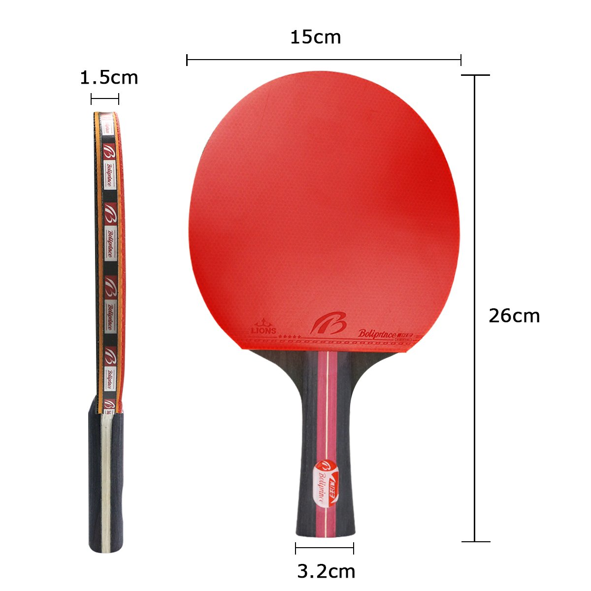 Weeygo Professional Table Tennis Bats Table Tennis Set Rubber Ping Pong Paddles For Indoor Outdoor Training Games With Carry Bag Shakehand