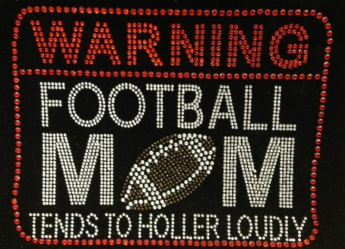 tends to holler loudly Rhinestone Transfer Iron On Hot Fix Motif Bling Applique - DIY ()