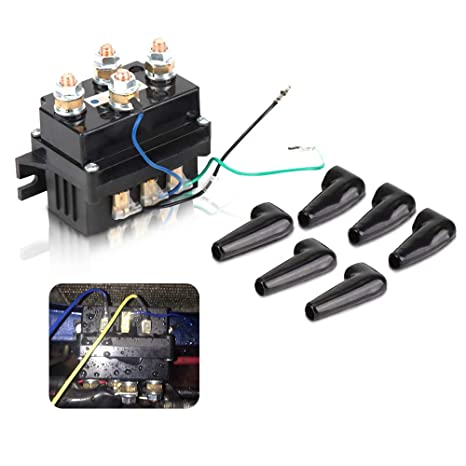 Amazon.com: Issyzone 12V 500A Universal Winch Relay, Winch Solenoid on