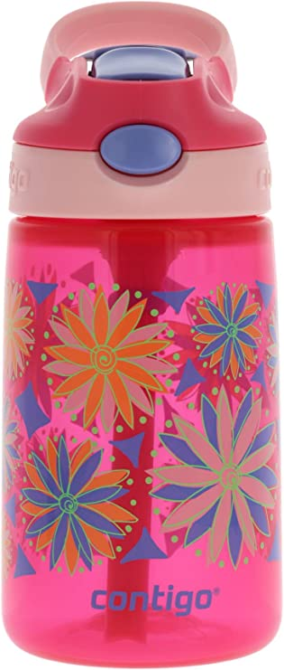 2-Pack Contigo AUTOSEAL Gizmo Sip Kids Water Bottle 14oz Thistle Petal Pink