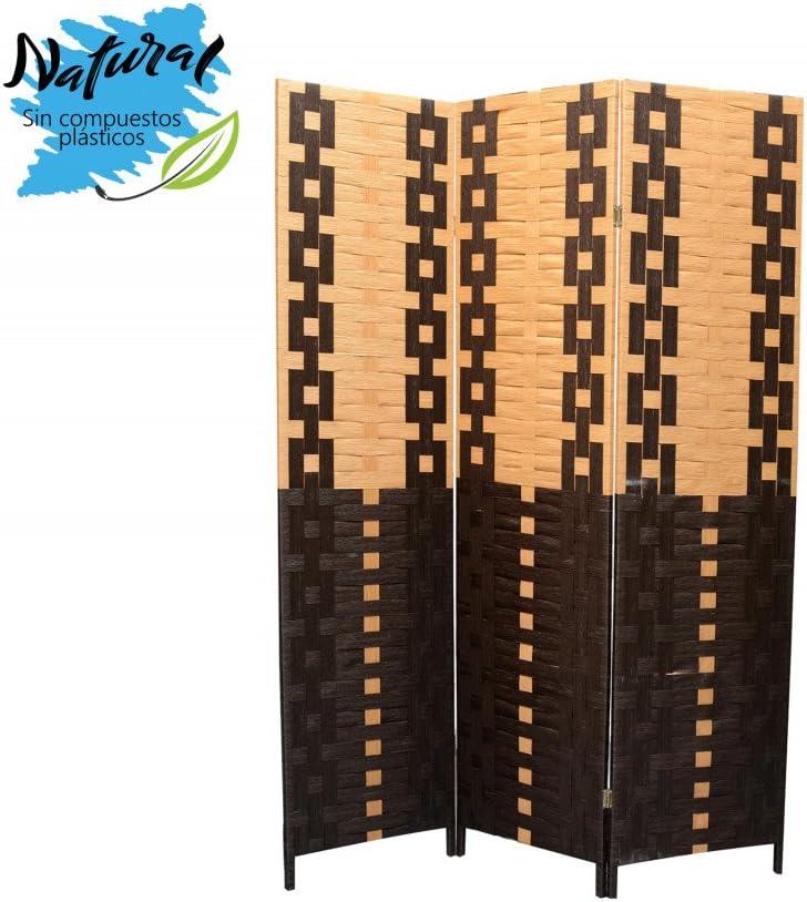 Biombo Seaparador de ambientes, Bambú Natural y Papel Trenzado Negro/Natural 180 x 135 cm - Hogar y más: Amazon.es: Hogar