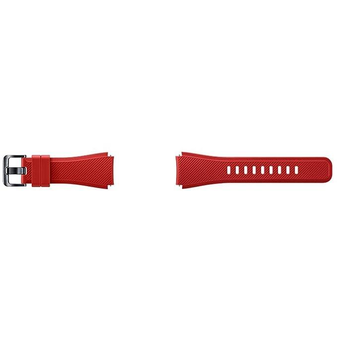 8 opinioni per Samsung ET-YSU76MREGWW Cinturino in silicone per Smartwatch Gear S3, taglia M,