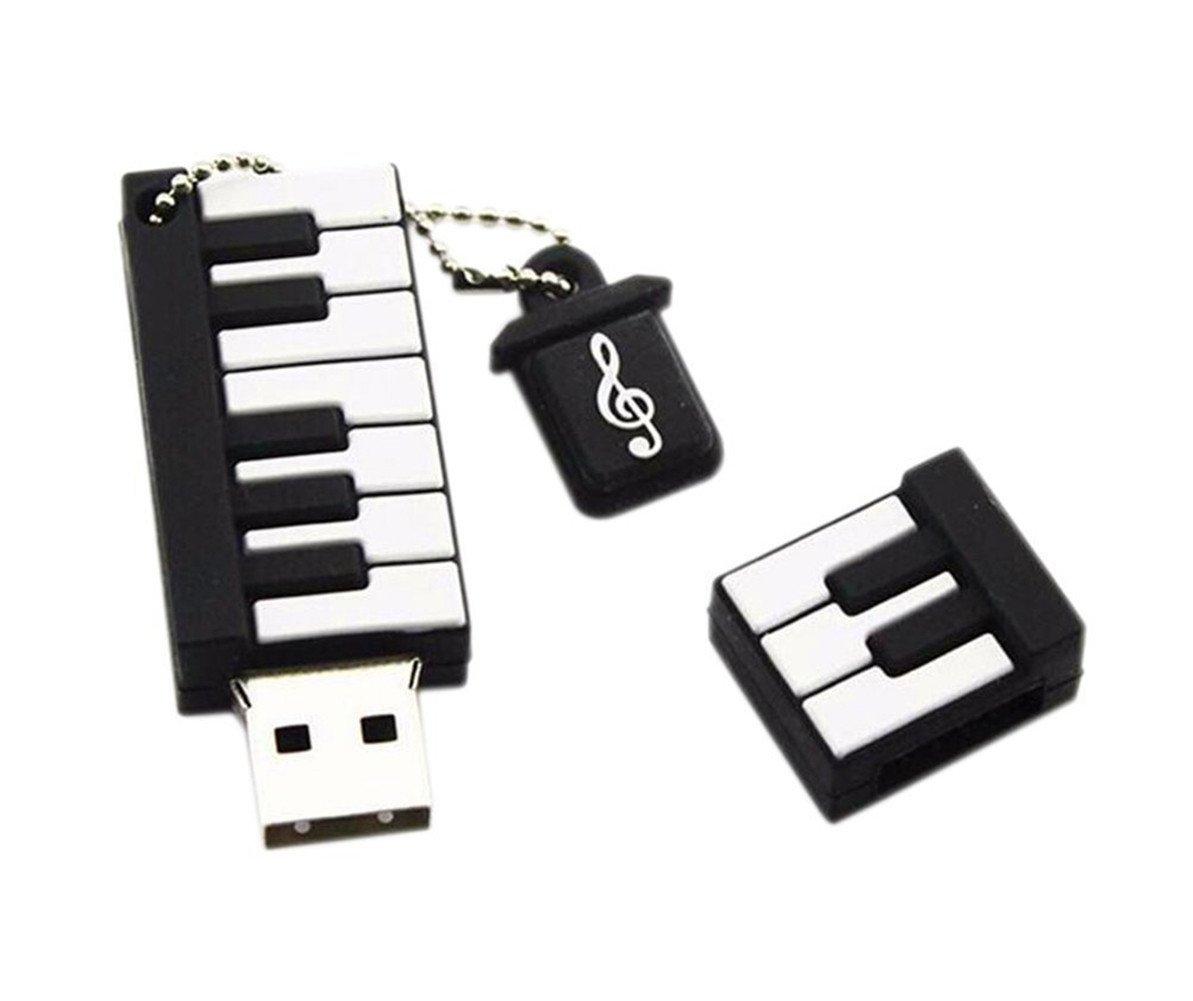 Scrox 1pcs U disque mémoire USB 2.0 8/16/32GB Mini piano en silicone Clé USB Memory Stick