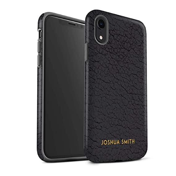 save off b902f e6bf2 Amazon.com: Personalized Custom Leather Effect Matte Case for Apple ...