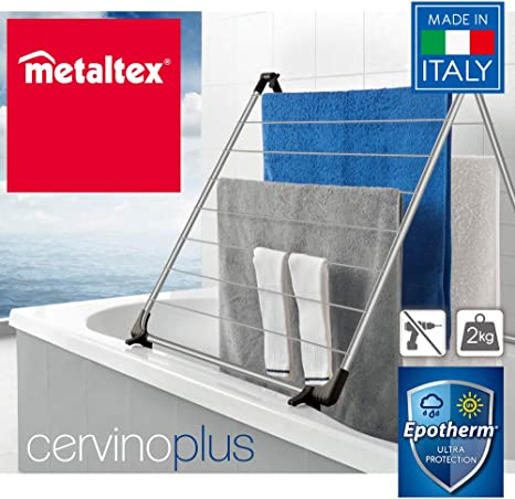Metaltex Cervino Plus - Tendedero Plegable para bañera, 10 Metros: Amazon.es: Hogar