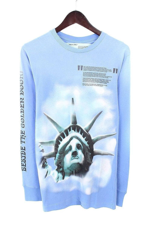 (オフホワイト) OFF-WHITE 【18AW】【BLUE LIBERTY L/S T-SHIRT】リバティープリント長袖カットソー(XS/ブルー) B07FQHV291
