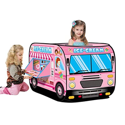 Micozy Ice Cream Truck Popping Children's Tent Candy Car Carrying Handbag Toy Gift, Kids Tent for Indoor & Outdoor 45 x 28 x 28inch: Toys & Games