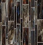 Bedrosians GLSRETEMBLMP ''Retrospect'' Mosaic with Linear Pattern, 12'' x 11.50'', Empire Blend