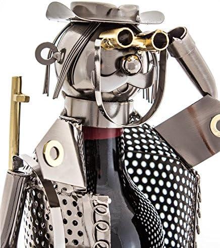 [Gesponsert]Brubaker Flaschenhalter Jäger Metall Skulptur mit Geschenkkarte