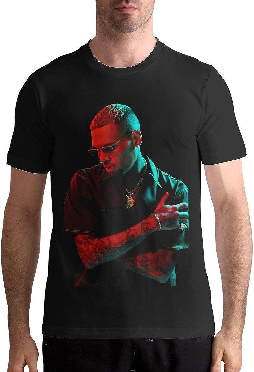 Camisa Deportiva de Manga Corta para Hombre, Chris Brown T Shirt Mens Casual Personality Fashion Short Sleeved Shirt: Amazon.es: Ropa y accesorios