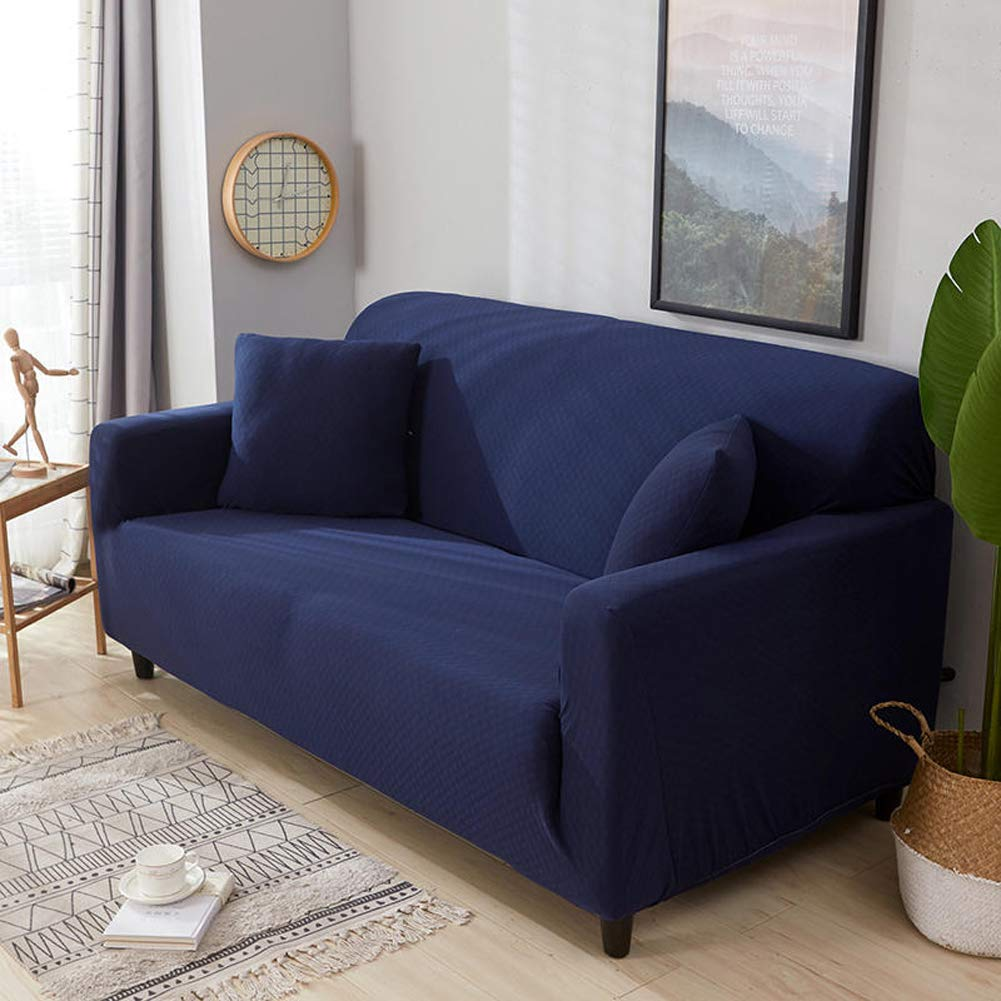 F 4 Seater(92118inch) F 4 Seater(92118inch) Zzy High elasticity sofa slipcover,European furniture predector for pet dog anti-slip sofa throw pad solid color couch cover-F 4 Seater(92  118inch)