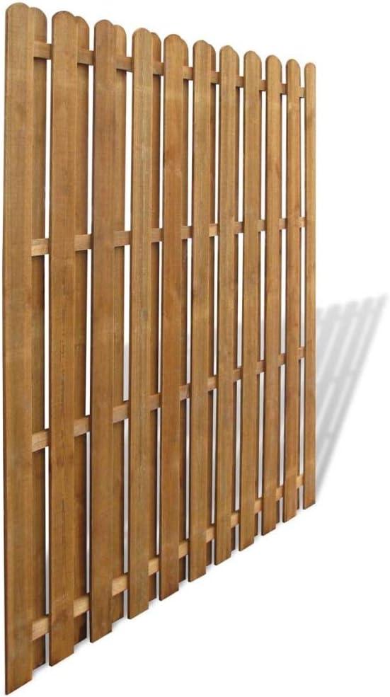 180 x 180 cm L x A Wakects Pannello di Recinzione Pannello di Recinzione Giardino Hit /& Miss Verticale Recinto in Legno FSC