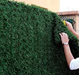 Synturfmats Artificial Hedge Slats Panel for Chain Link Fencing Outdoor Faux Hedge Privacy Screen Fence