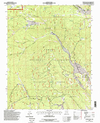 Canon Plaza NM topo map, 1:24000 scale, 7.5 X 7.5 Minute, Historical, 1995, updated 1998, 26.9 x 22 IN - - Bonita Plaza