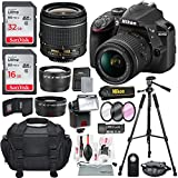 Nikon D3400 with AF-P DX NIKKOR 18-55mm f/3.5-5.6G VR, Total of 48 GB SDHC along with Deluxe Accessories Bundle
