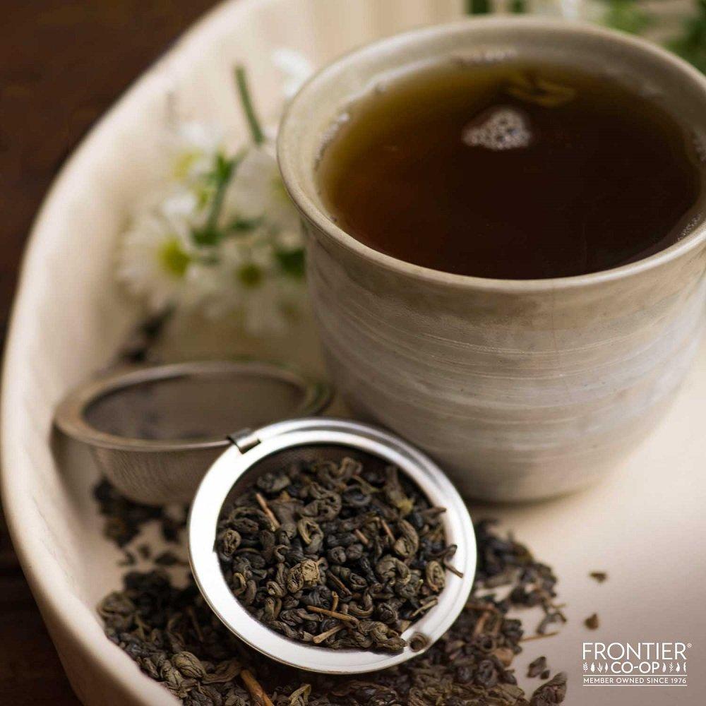 Frontier Co-op Organic Fair Trade Certified Gunpowder Green Tea, Special Pin Head, 1 Pound Bulk Bag by Frontier (Image #2)
