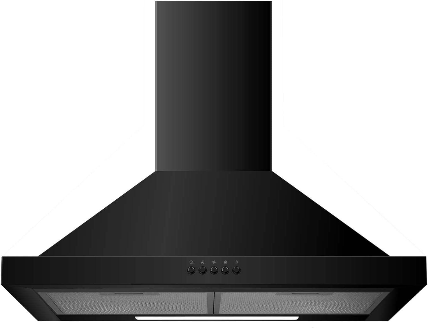 electriQ 60 cm de la chimenea de la capilla de cocina tradicional en color negro: Amazon.es: Hogar