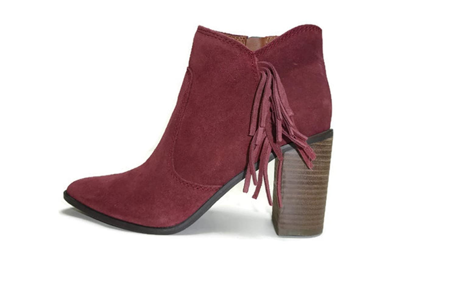 Lucky Brand Women's Mercerr Oiled Suede Ankle Boot, Beet 7.5 M