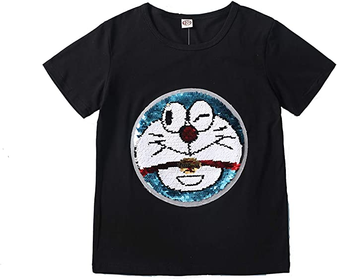 Camiseta Doraemon Boy Camiseta de Moda de Verano Camiseta de Manga ...