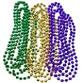 Joyin Toy 12 Pieces Mardi Gras Accessory Set Party Favors with Yellow Green Purple Beads Necklaces, Sequin Fedora Hat, Masquerade Mardi Gras Mask, Sequin Bow Tie by Joyin Toy