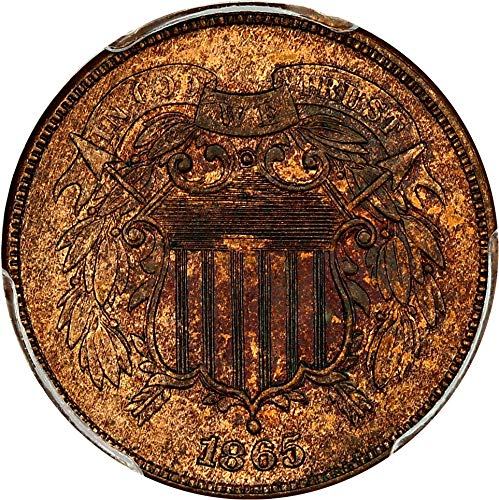 1865 P 2-Cent Pieces Two-Cent MS64 PCGS RB