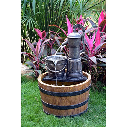 Tools Option Solar Sunnysaze Old Fashioned Water Pump Kit with Barrel - Old Fashioned Pump Fountain