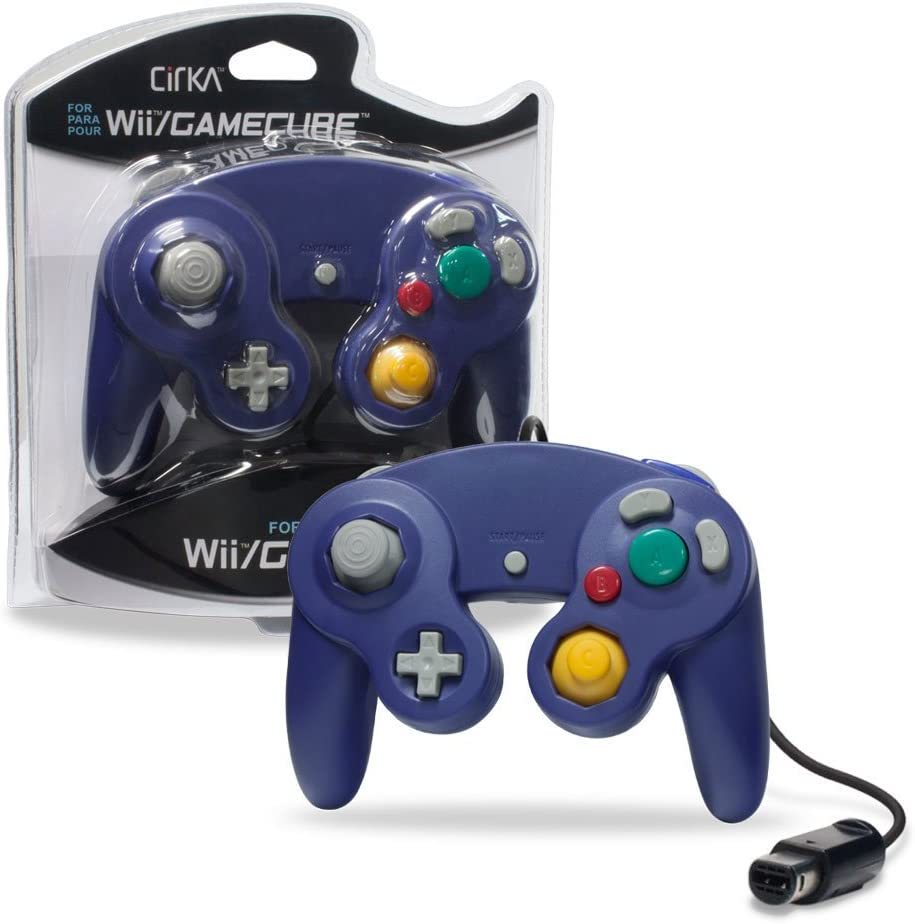 Amazon.com: CirKa Wired Controller for GameCube/ Wii (Purple): Video Games
