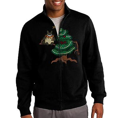 HEHE Men's Zip-up Jacket Hooded Hood My Neighbor Totoro