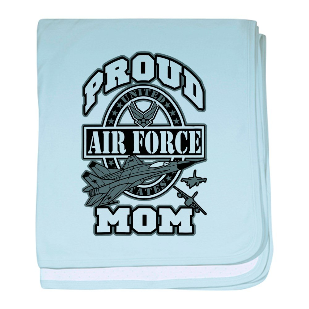 Royal Lion Baby Blanket Proud Air Force Mom Jets - Sky Blue