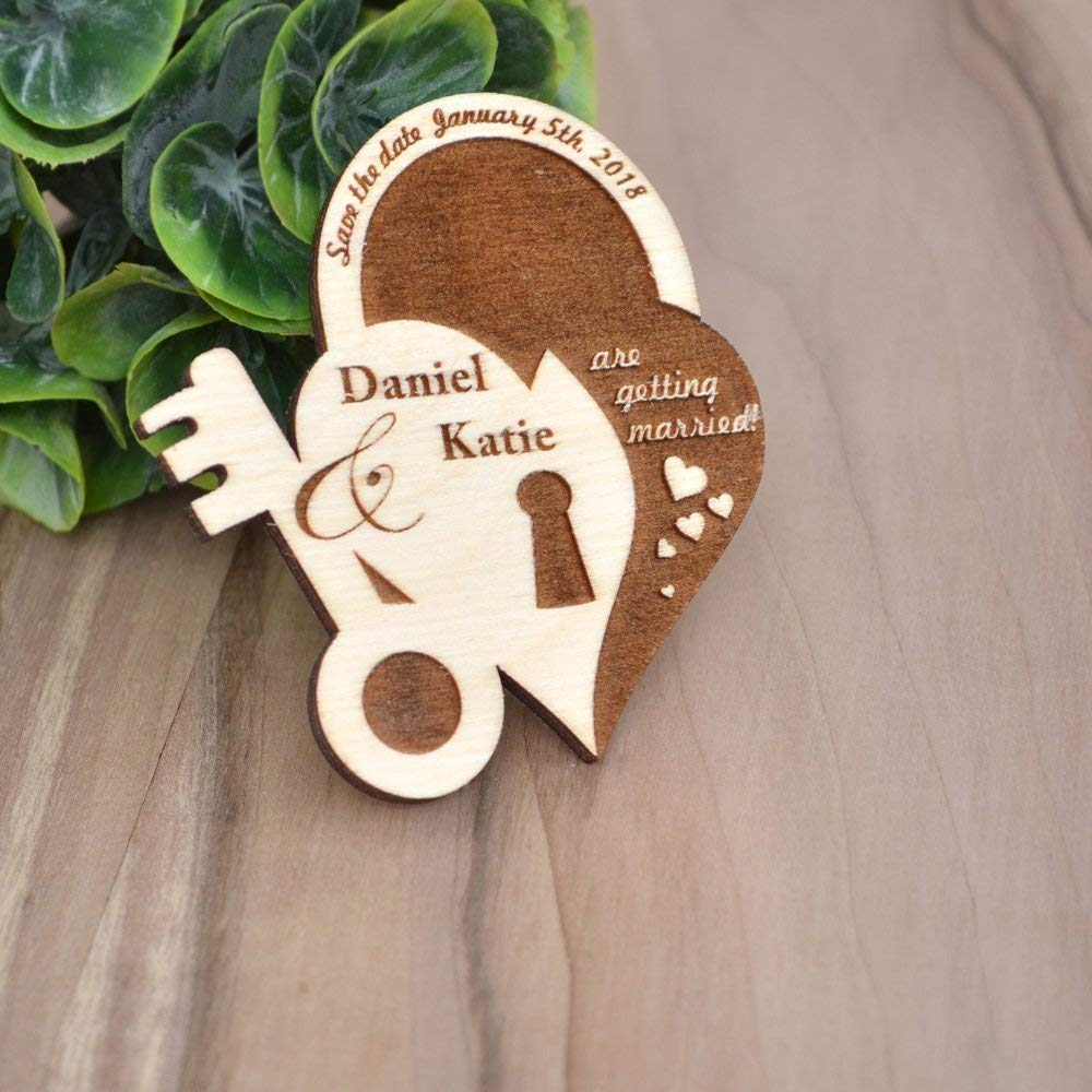 Wood Wedding Save the Date Magnets - Save the Date Cards - Rustic Save the Date - Personalized Save The Date - Wood Wedding Invites