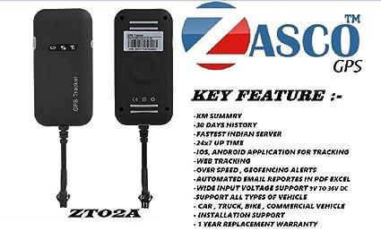 ZASCO ZT02A GPS TRACKER FOR CAR , BIKE , TRUCK ANTITHEFT DEVICE