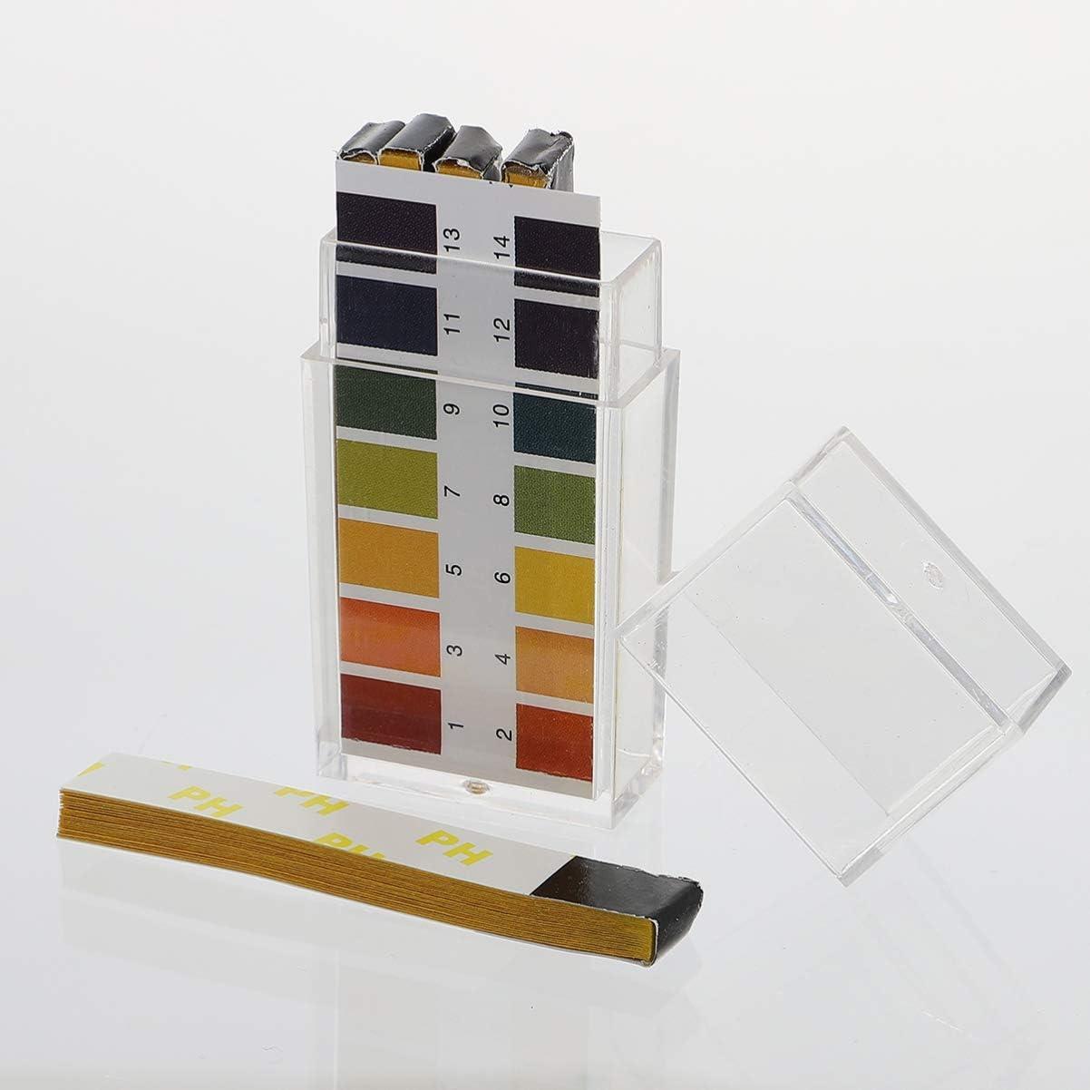1-14 Testpapier Ph-Indikator Papierstreifentester ULTECHNOVO 200Pcs Ph Teststreifen Ph