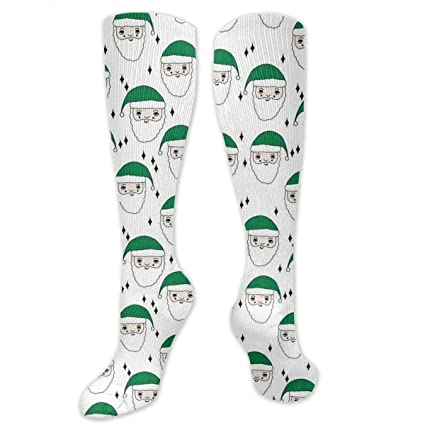 0ce539595a Image Unavailable. Image not available for. Color: Santa Christmas Holiday  Compression Socks for Women and Men - Best ...